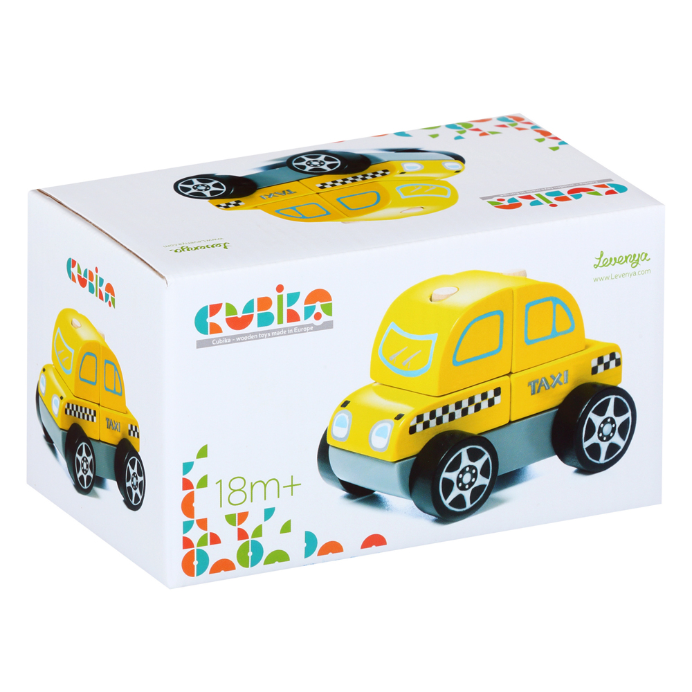Cubika Ξύλινο Ταξί ταξινόμησης 10 εκ
