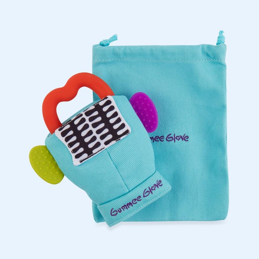 Γάντι οδοντοφυΐας Gumme glove τυρκουάζ