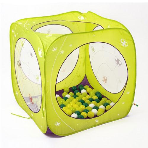 Ludi Βρεφικός κύβος- σκηνή παιχνιδιού pop-up, με 100 μπαλάκια