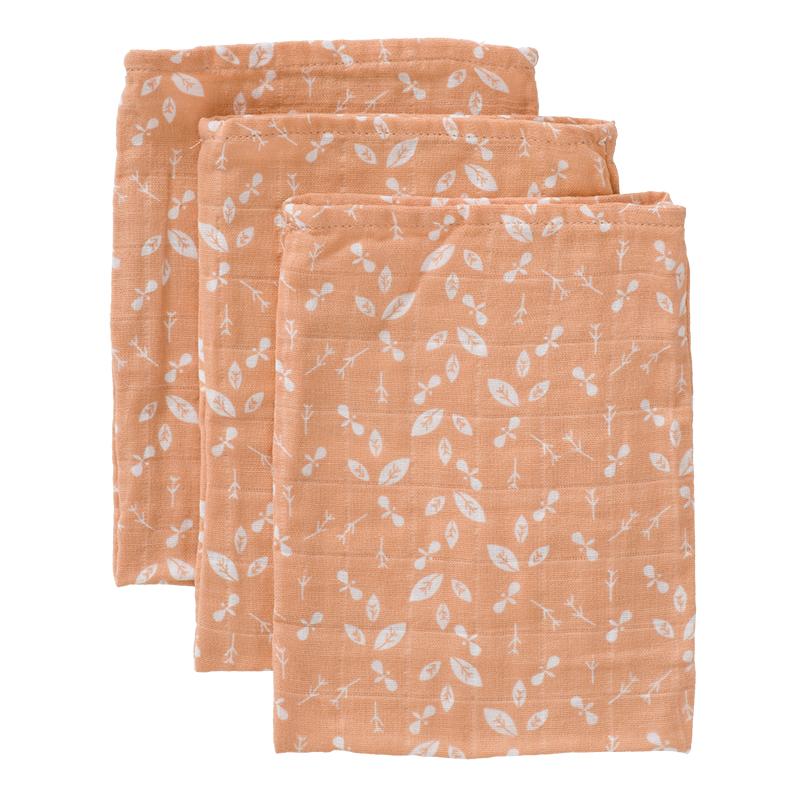 Fresk: Σετ 3 πετσετάκια πλυσίματος 16*12 από μουσελίνα Forest 100% οργανικό βαμβάκι