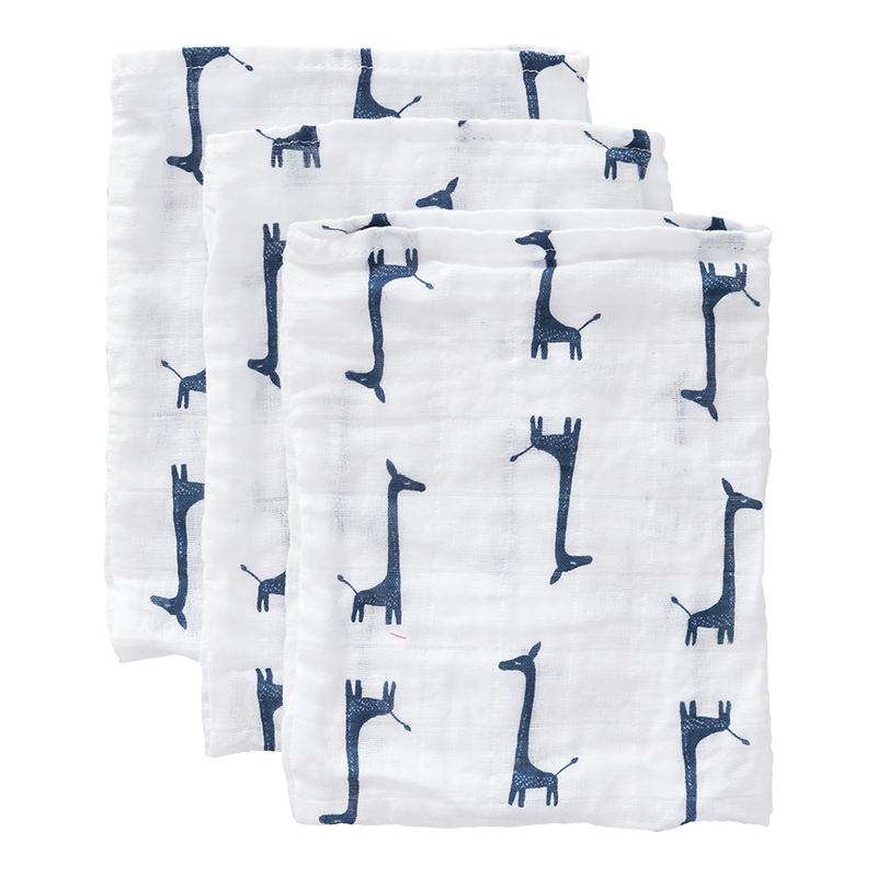 Fresk: Σετ 3 πετσετάκια πλυσίματος 16*12 από μουσελίνα Giraf 100% οργανικό βαμβάκι
