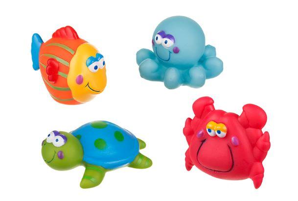Παιχνίδια μπάνιου Μπουγελοφατσάκια (σετ των 4) akuku