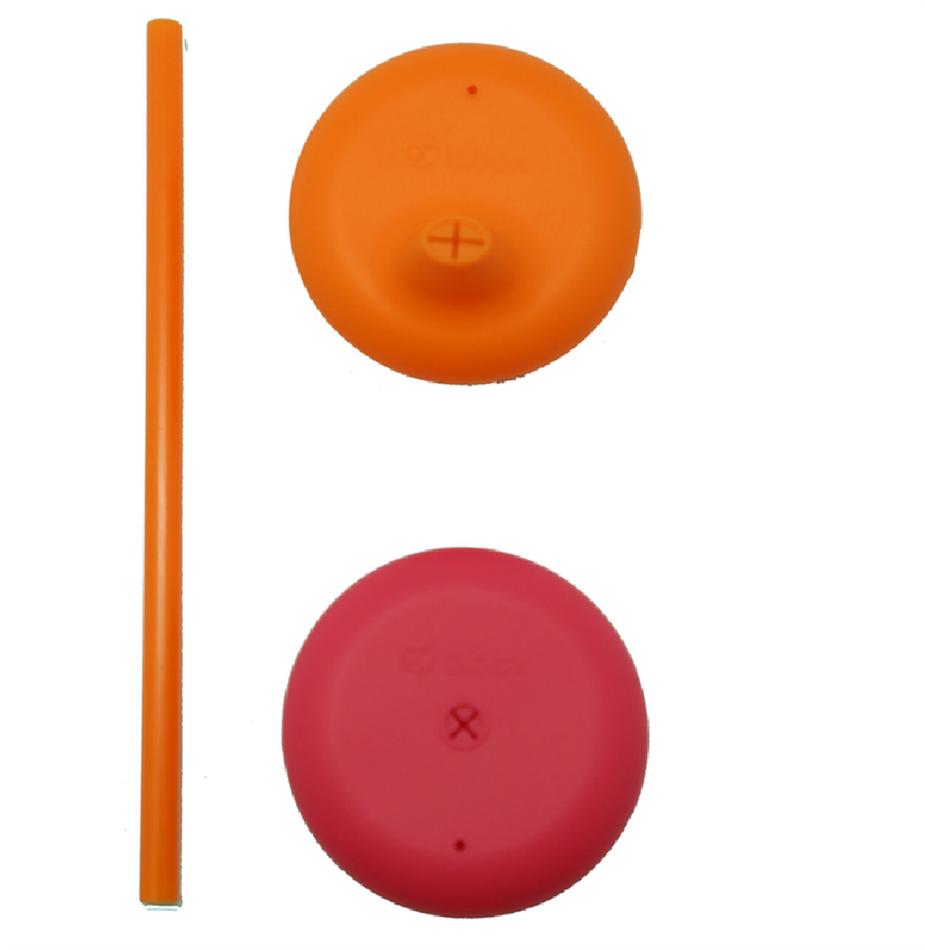 Σετ (2 τεμ) σιλικονούχων καπακιών πορτοκαλί-φούξια B.box