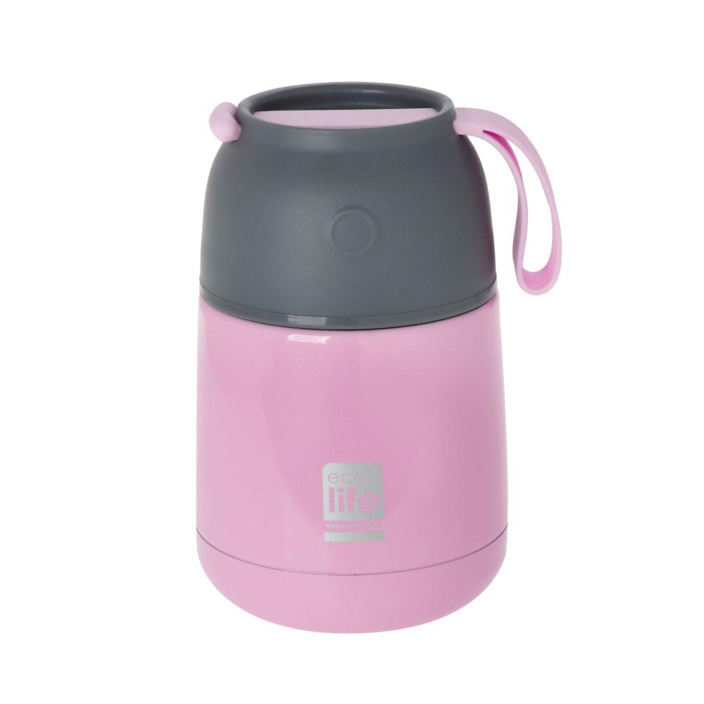Θερμός φαγητού ροζ 450ml <br/> Ecolife