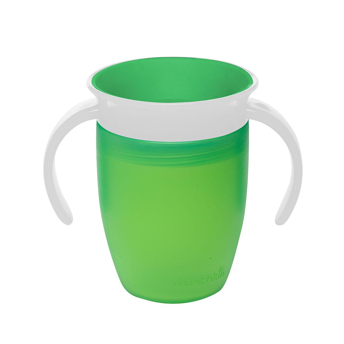 Εκπαιδευτικό πράσινο ποτήρι 207ml Miracle 360° Munchkin