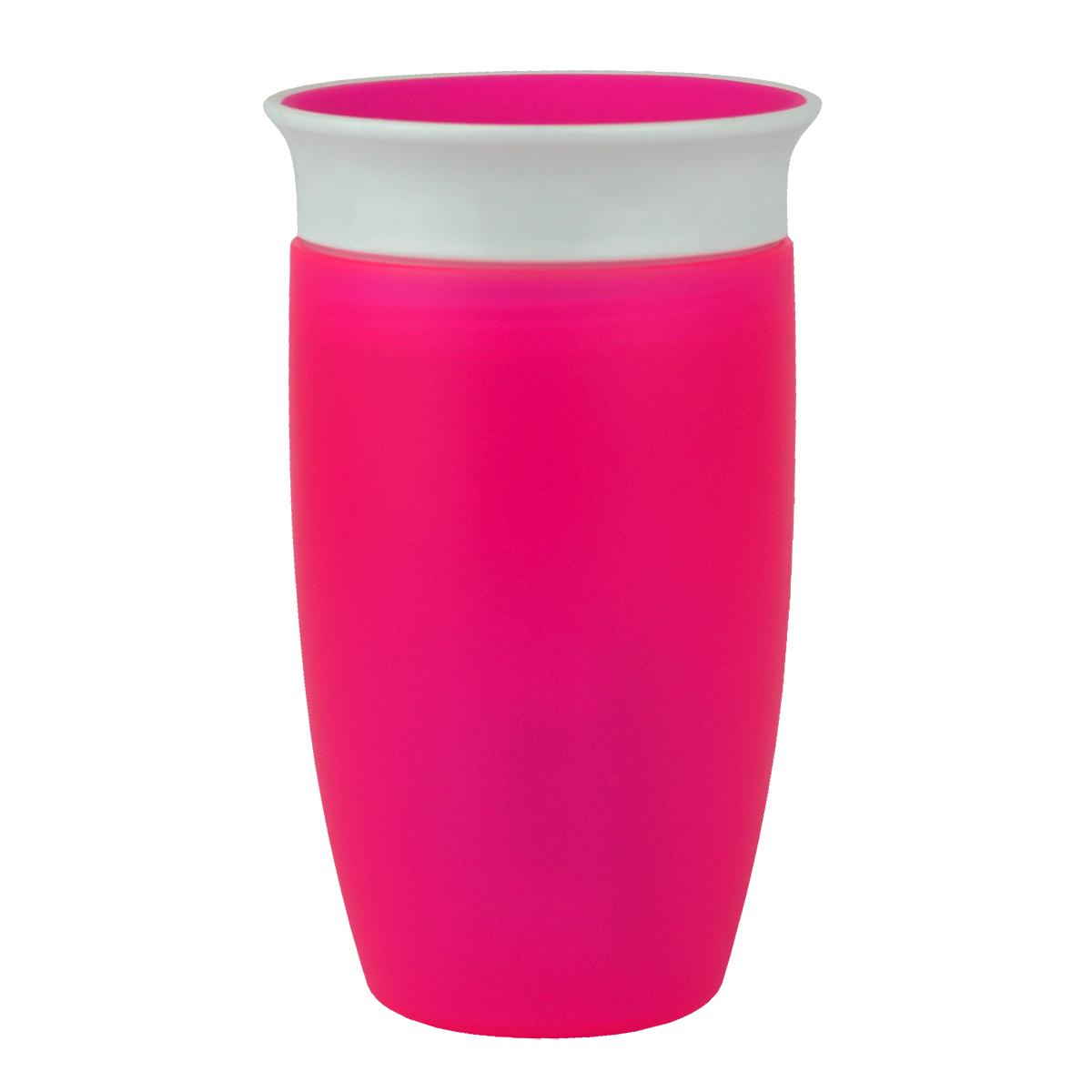 Εκπαιδευτικό ροζ ποτήρι 296ml Miracle 360° Munchkin
