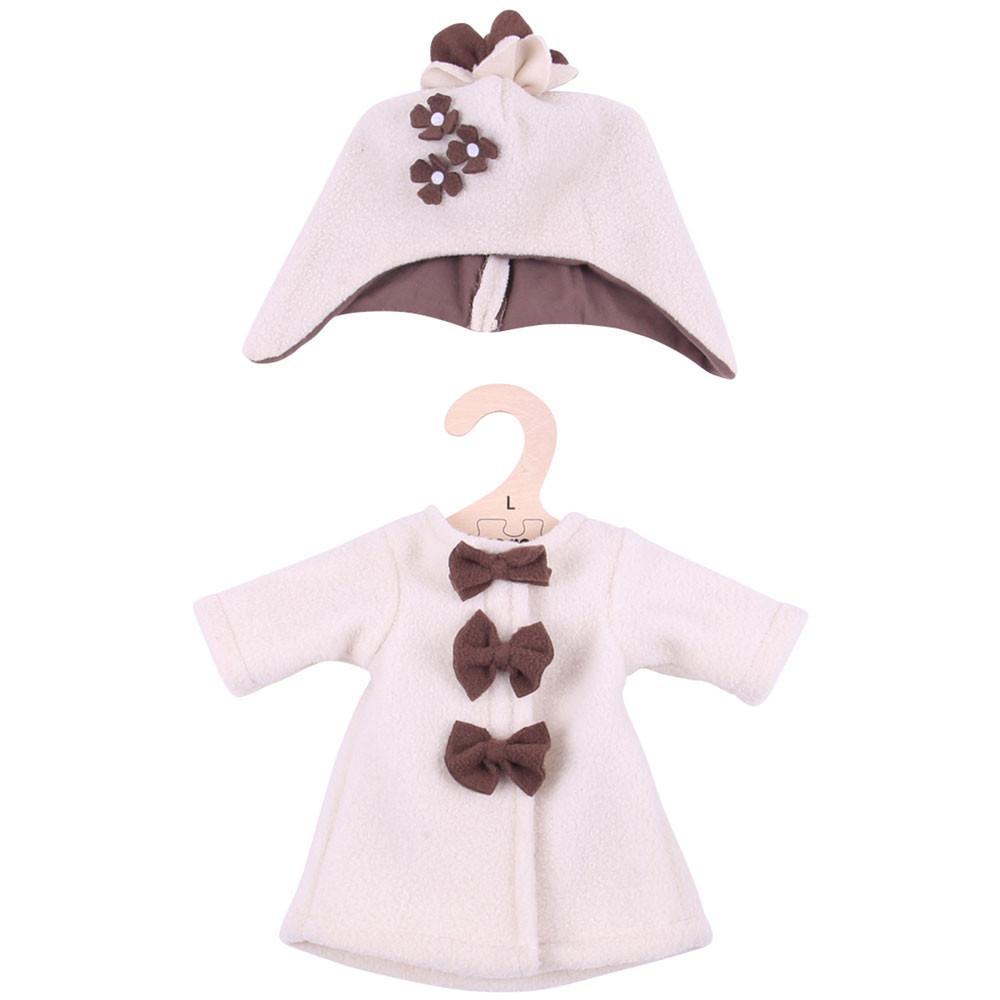 Παλτό μπεζ φλις με καπέλο 38εκ