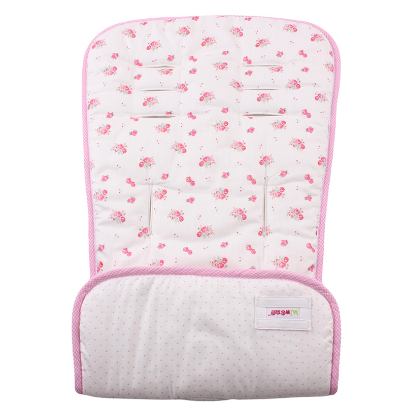 Κάλυμμα καροτσιού Minene άσπρο φλοράλ/ροζ πουά