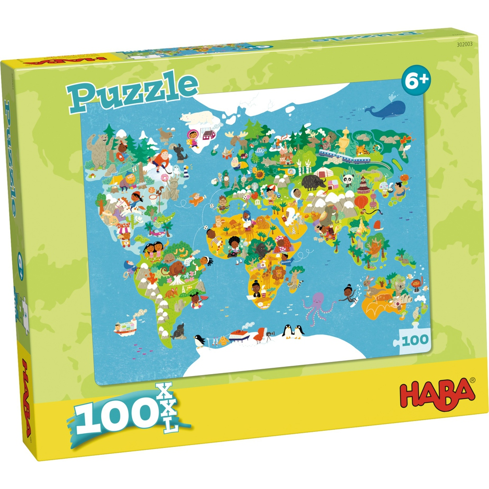 Haba Παζλ <br/>΄Παγκόσμιος χάρτης'