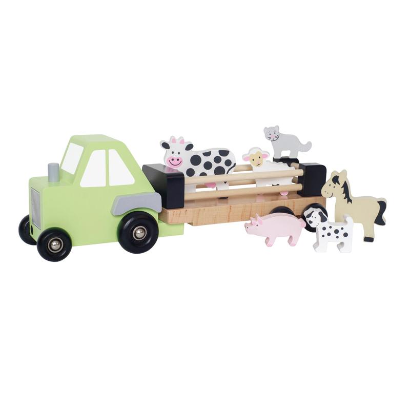 Jabadabado: Ξύλινο Φορτηγάκι μεταφοράς ζώων