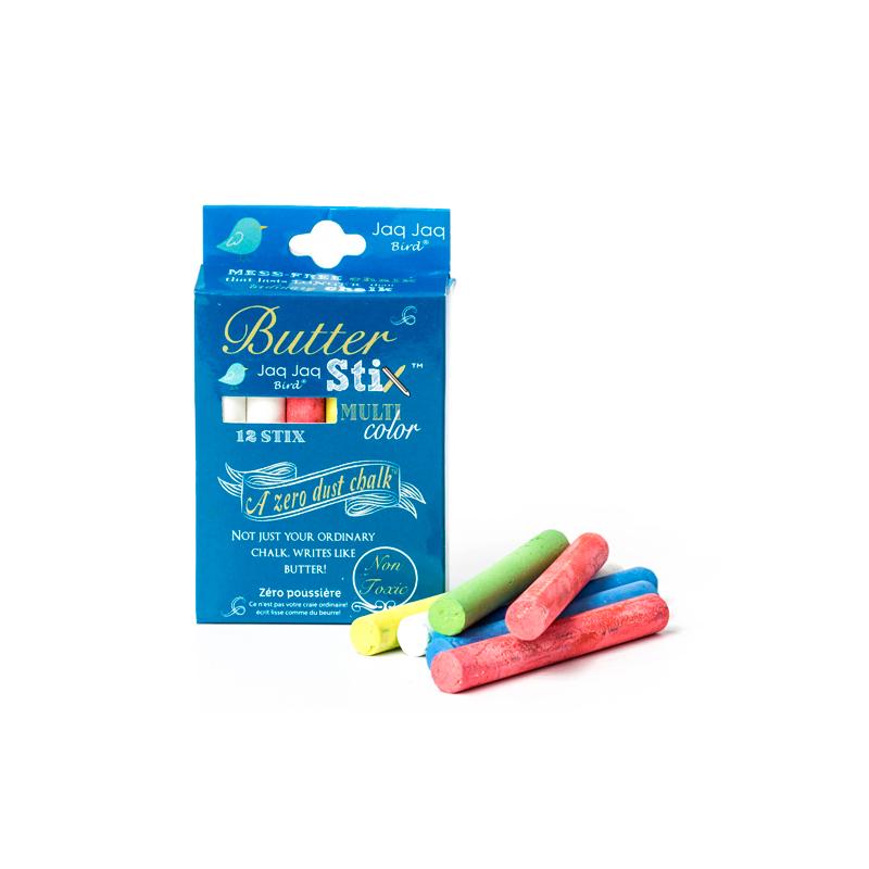 Jaq Jaq Bird: Κιμωλίες χρωματιστές Butterstix 12τεμ