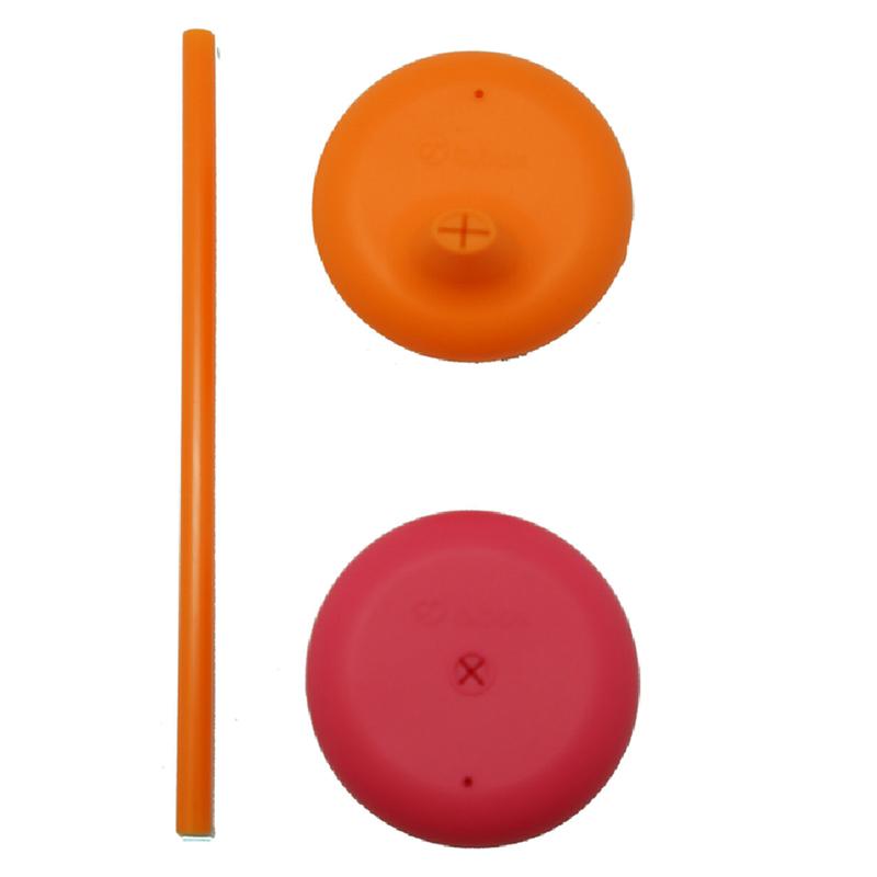 Σετ σιλικονούχων καπακιών πορτοκαλί-φούξια B.box