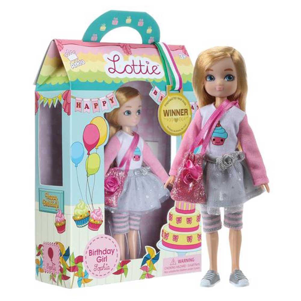 Lottie Κούκλα βινυλίου 'Κορίτσι γενεθλίων' 18εκ