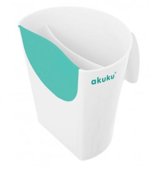Κύπελλο για μπάνιο λευκό/τυρκουάζ akuku