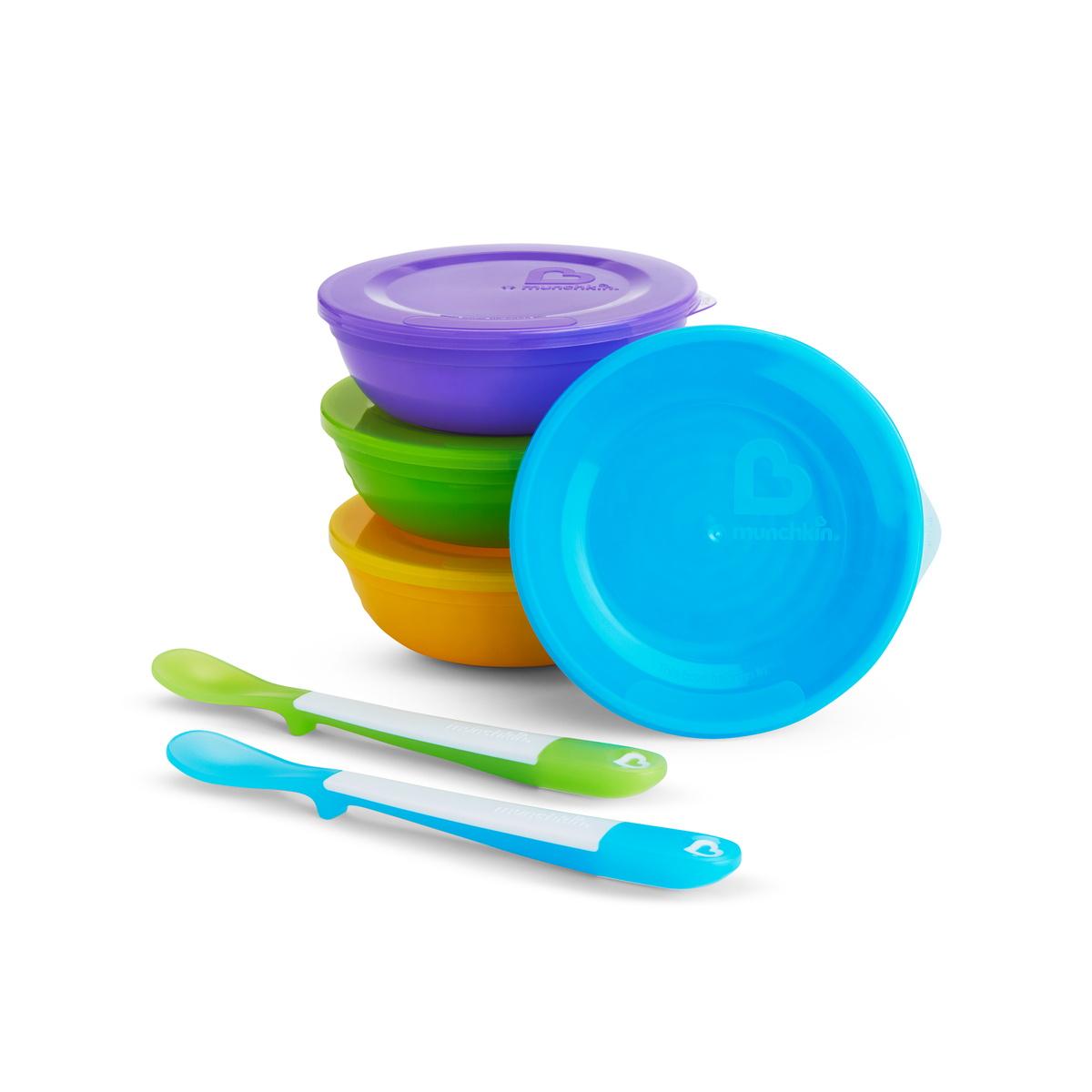 Σετ 4 Μπολ με καπάκια & κουτάλια Love-a-bowl Munchkin