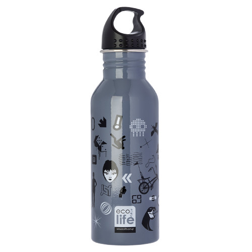 Mεταλλικό ανοξείδωτο μπουκάλι 600ml Trends EcoLife