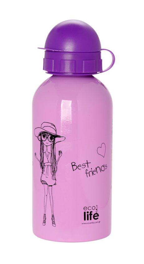 Mεταλλικό ανοξείδωτο μπουκάλι 500ml Fashion EcoLife