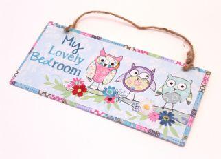 Μεταλλικό καδράκι My lovely bedroom