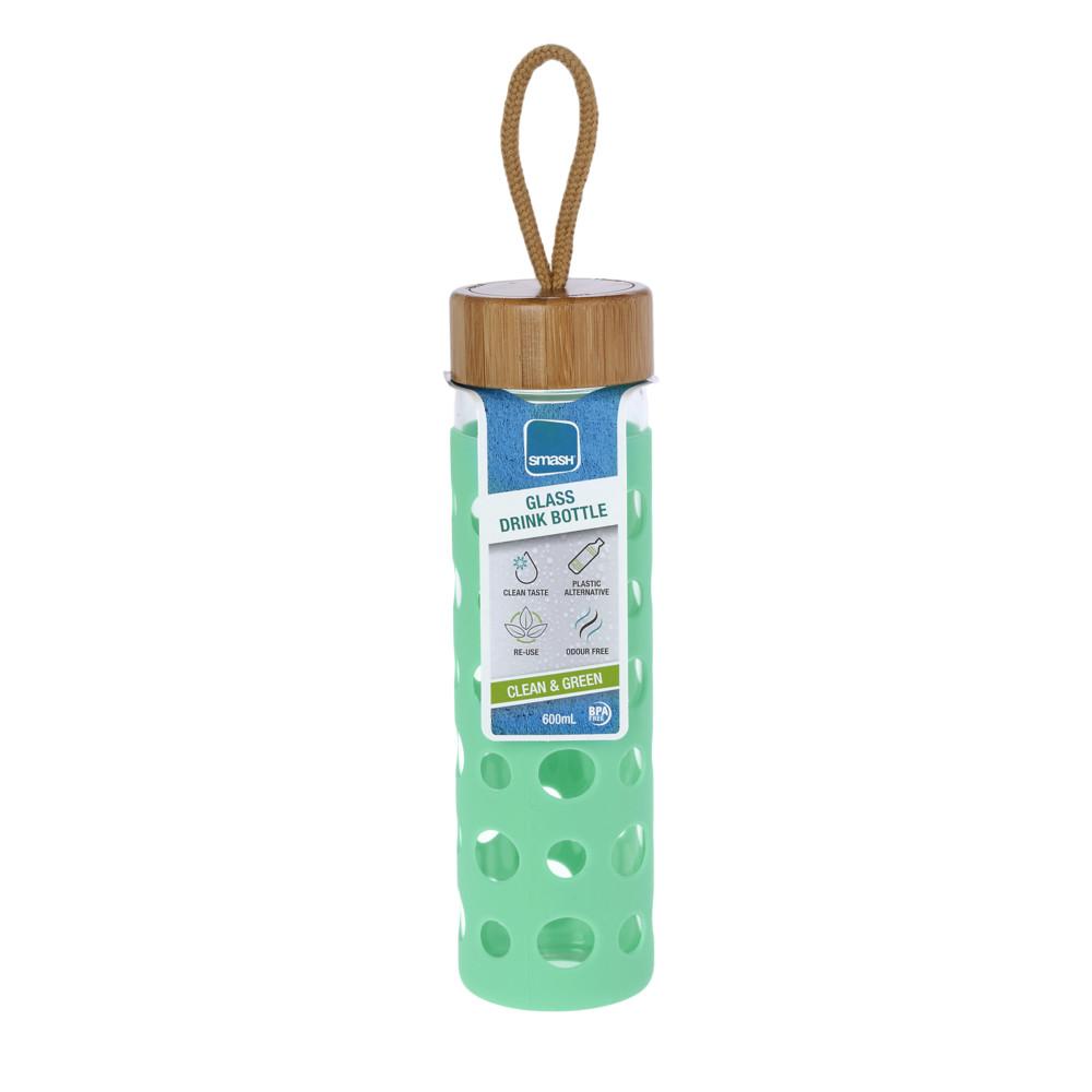 Γυάλινο μπουκάλι-παγούρι Smash 600ml (Mε προστατευτικό κάλυμμα σιλικόνης)
