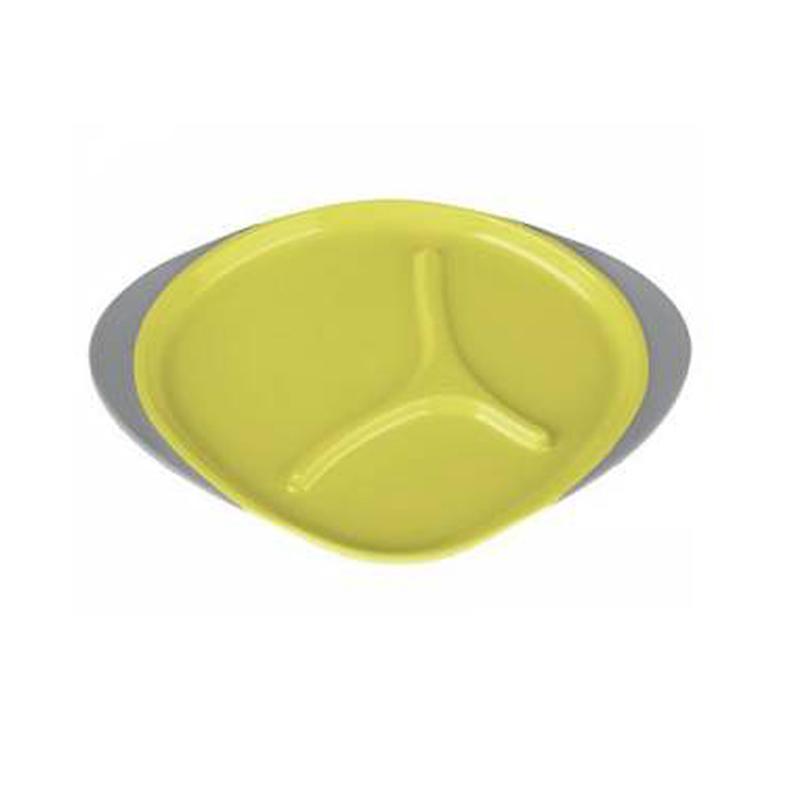 Πιάτο με εσωτερικά χωρίσματα κίτρινο