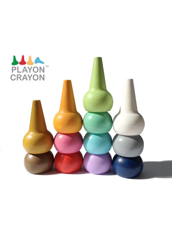 Playon Crayon (Για τα μικρά χεράκια) Παστέλ χρώματα 12τεμ