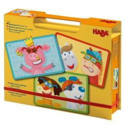 Μαγνητική Κασετίνα 'Χαρούμενα Ζωάκια'! από τη HABA  Η κασετίνα με μαγνητάκια ¨Χαρούμενα Ζωάκια¨ από την εταιρεία Haba, θα ενθουσιάσει τους μικρούς μας φίλους. Τοποθετήστε μια από τις 4 καρτέλες με ζωάκια στην κασετίνα και χρησιμοποιώντας τα 51 δι