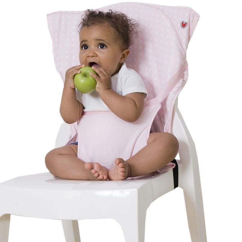 Φορητό καθισματάκι φαγητού Pocket Chair Ροζ Αστέρια