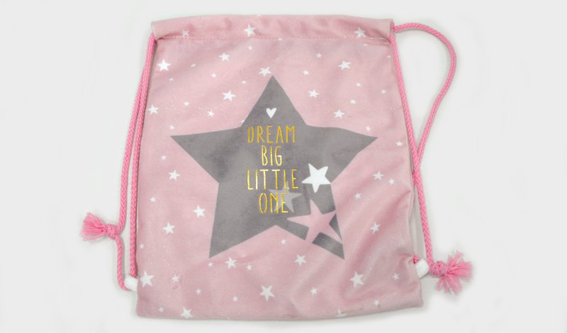 Σακίδιο πλάτης <br> ροζ αστέρι 30*25cm
