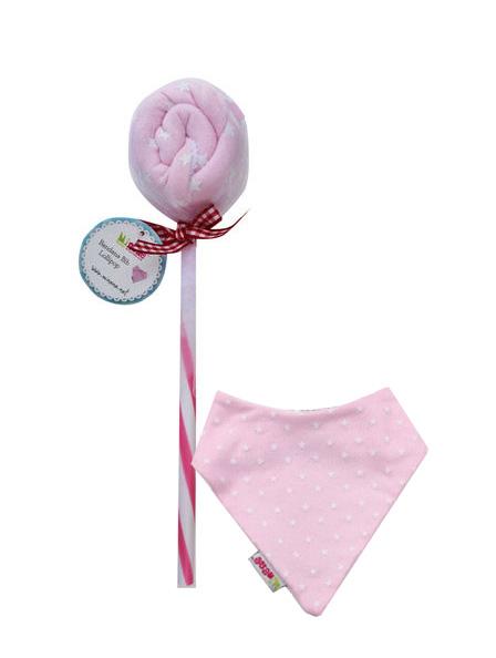 Minene-Lollipops Σαλιάρα-μπαντάνα Ροζ Αστέρια
