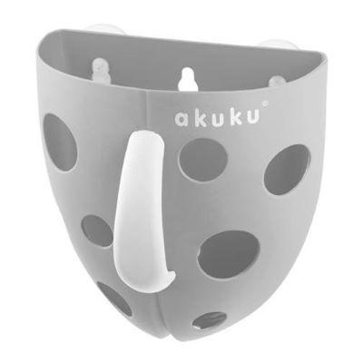 Θήκη οργάνωσης παιχνιδιών μπάνιου γκρι Akuku