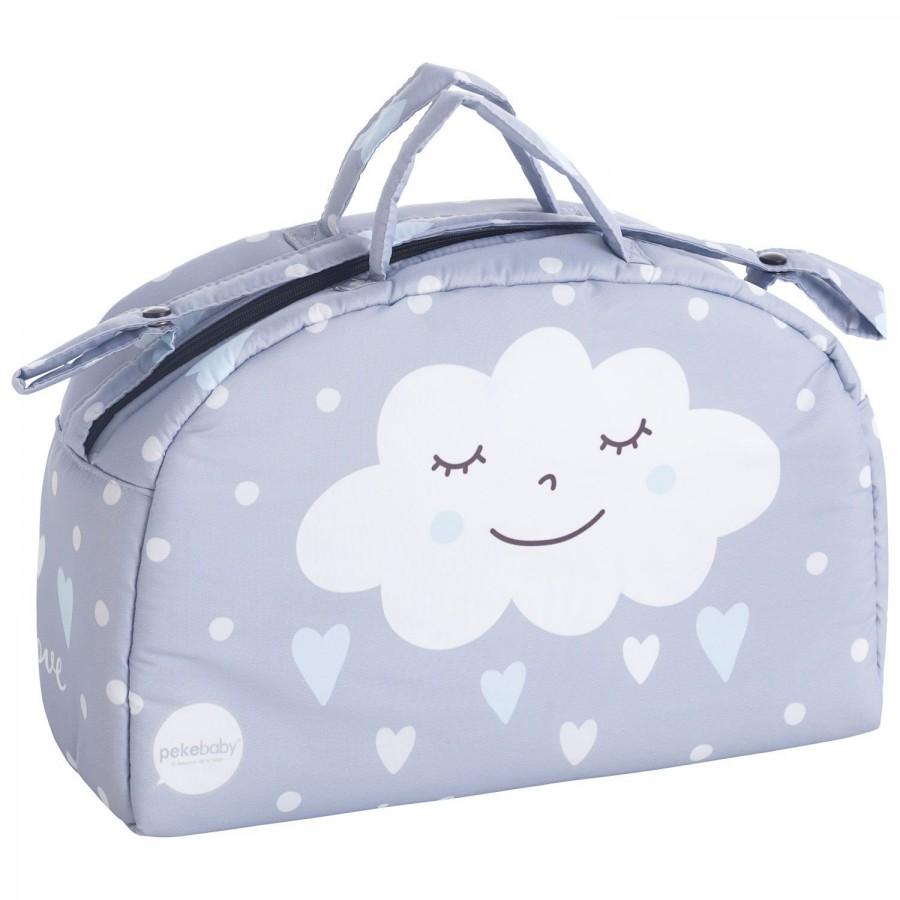 Τσάντα καροτσιού συννεφάκι γαλάζιο Pekebaby