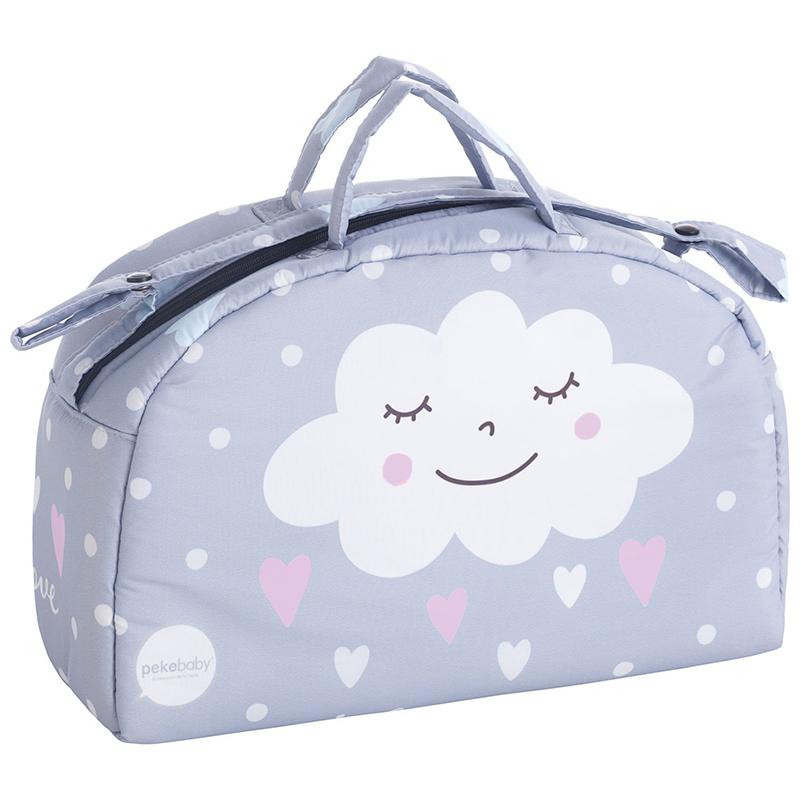 Τσάντα καροτσιού συννεφάκι ροζ Pekebaby
