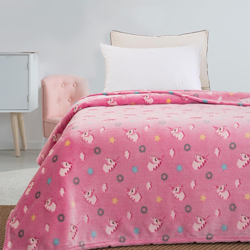 Παιδική κουβέρτα μονή φωσφορίζουσα unicorn 160×220  BEAUTY HOME