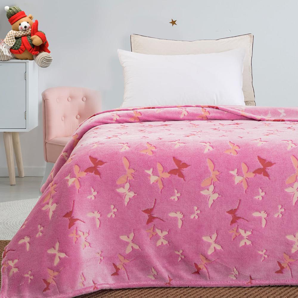 Παιδική κουβέρτα μονή φωσφορίζουσα  butterfly 160×220  BEAUTY HOME