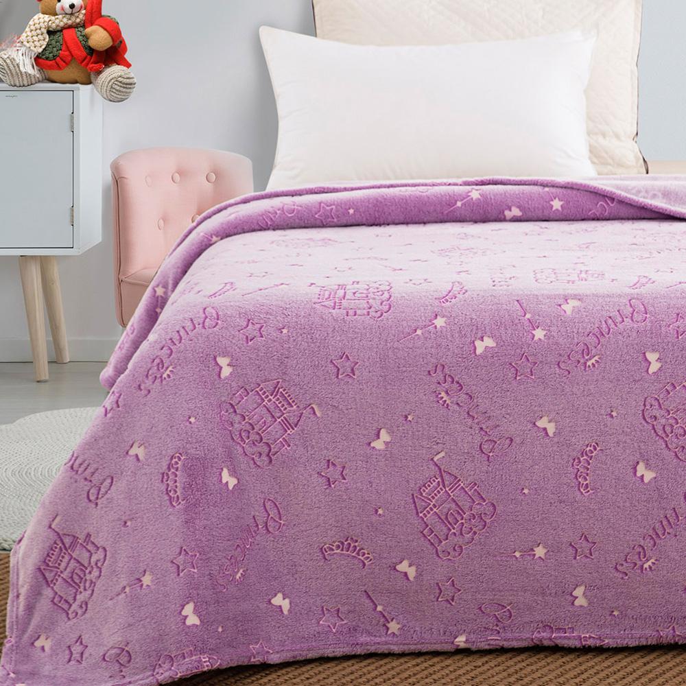 Παιδική κουβέρτα μονή φωσφορίζουσα princess 160×220  BEAUTY HOME