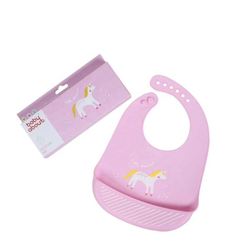 Baby bib σαλιάρα σιλικόνης Cute Animals Unicorn