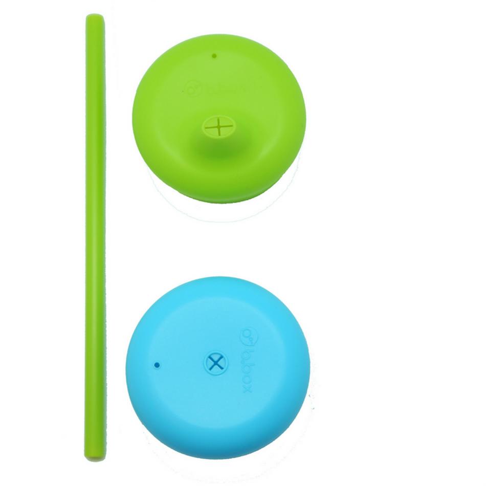 Σετ (2 τεμ) σιλικονούχων καπακιών μπλε-πράσινο B.box