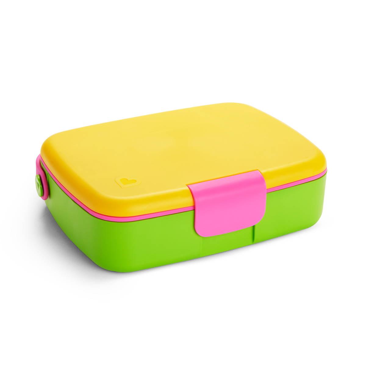 Lunch bento box yellow/pink Munchkin