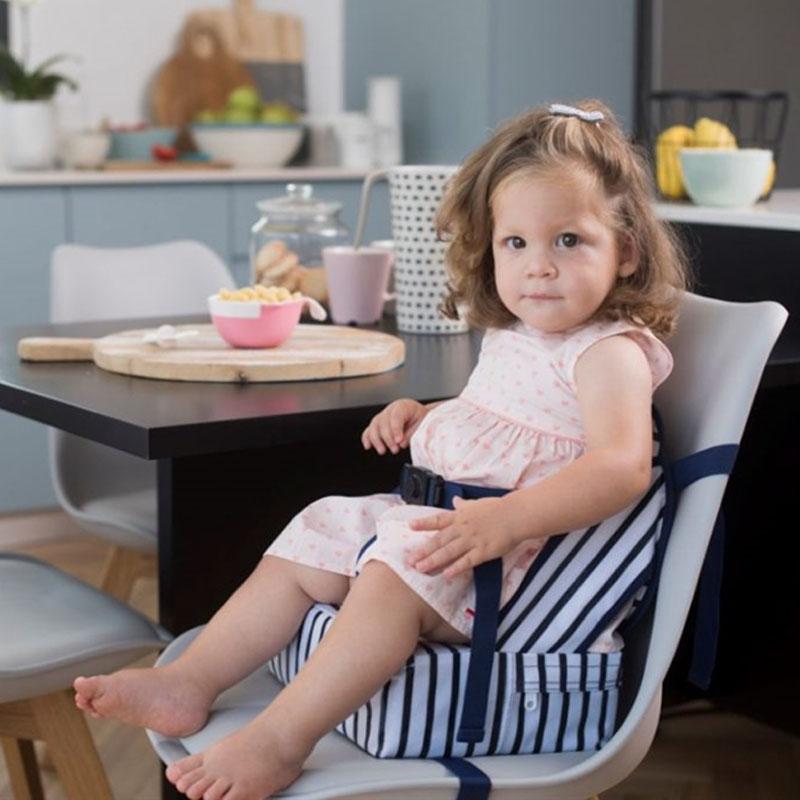 Φορητό καθισματάκι φαγητού Easy Up Booster Μπλε ριγέ