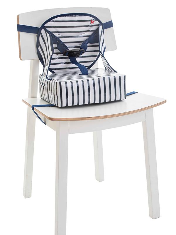 Φορητό καθισματάκι φαγητού Easy Up (booster φαγητού) Μπλε ριγέ