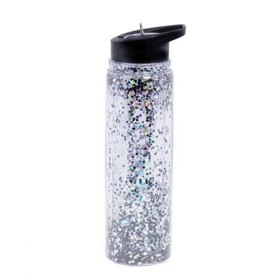 A little lovely company Μπουκάλι XL: Glitter - black/silver