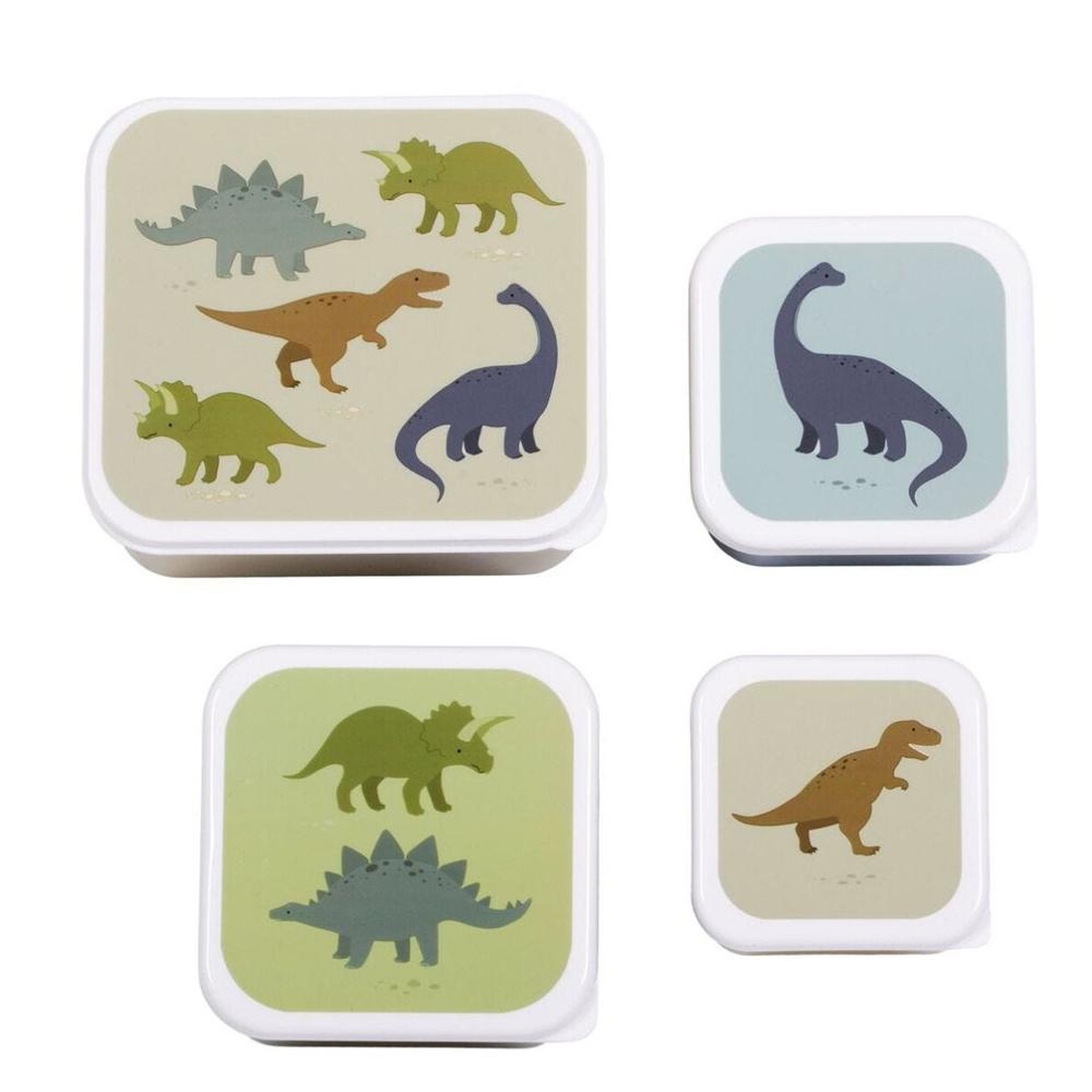 A little lovely company Σετ 4 δοχεία μπωλ φαγητού dinosaurs