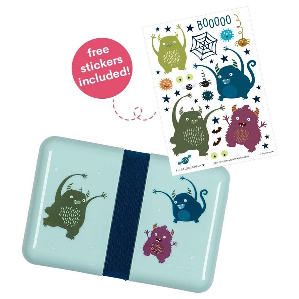 A little lovely company Δοχείο φαγητού Lunch box monsters 18*12*6