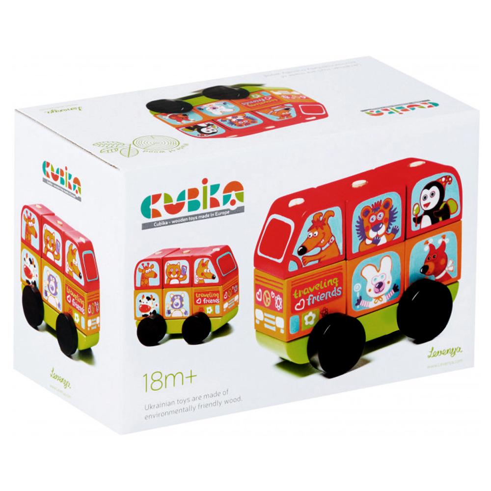 Cubika Ξύλινο λεωφορείο ταξινόμησης 12εκ
