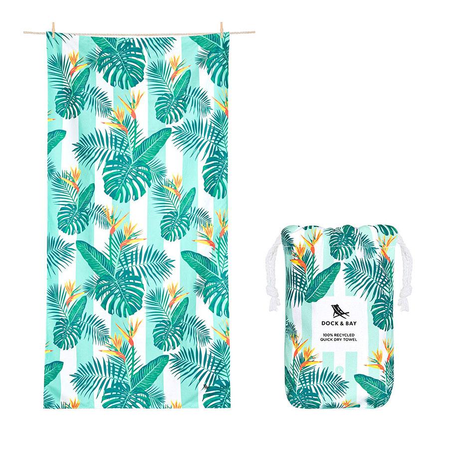 Dock & Bay: Πετσέτα θαλάσσης 160x90cm Quickdry Botanical - Perfect Paradise