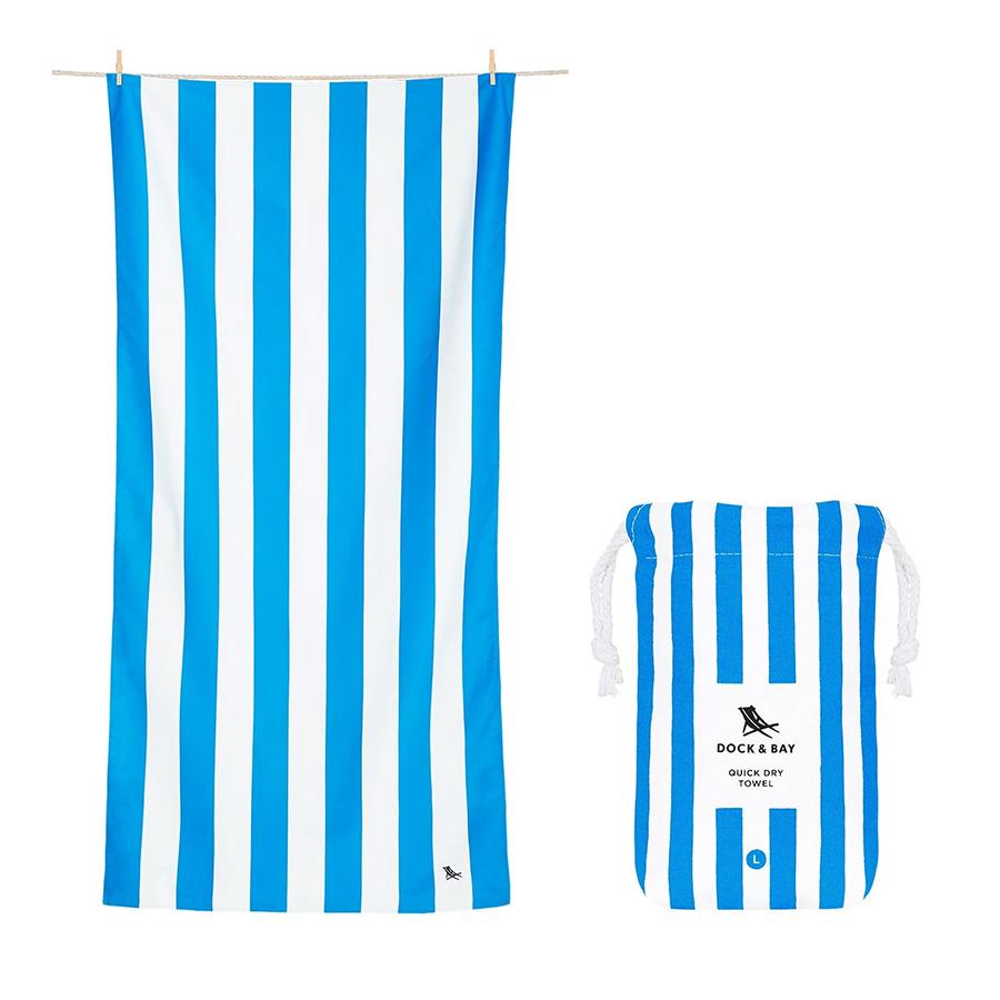 Dock & Bay: Πετσέτα θαλάσσης 160*80 Quickdry Cabana - Bondi Blue