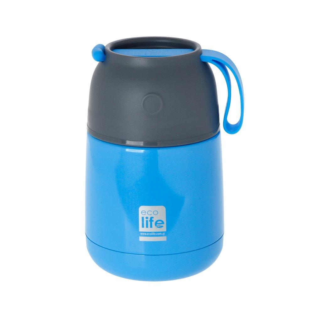 Θερμός φαγητού γαλάζιο <br/> 450ml Ecolife