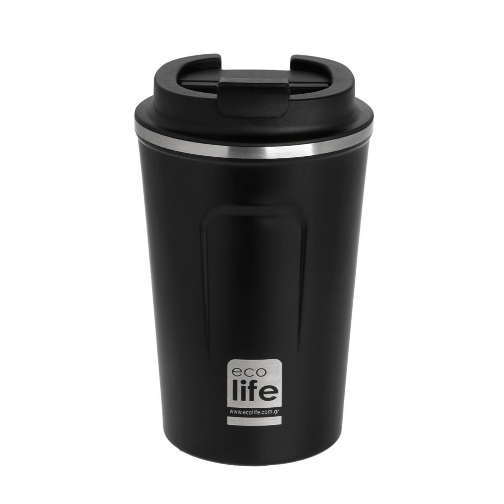 Ecolife Θερμός καφέ <br> dark Grey 370ml
