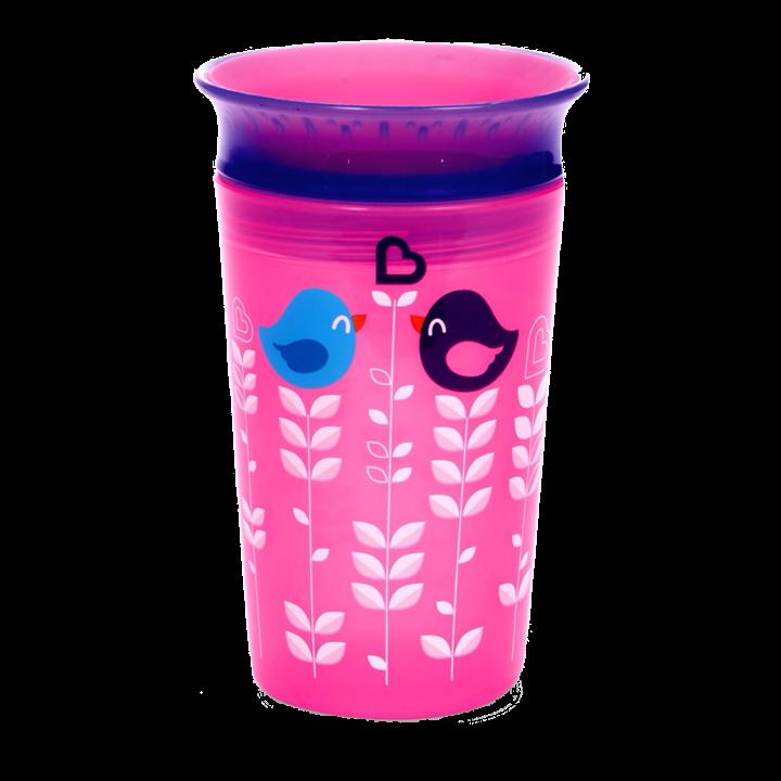 Εκπαιδευτικό ποτήρι ροζ πουλιά  Miracle 360° Munchkin
