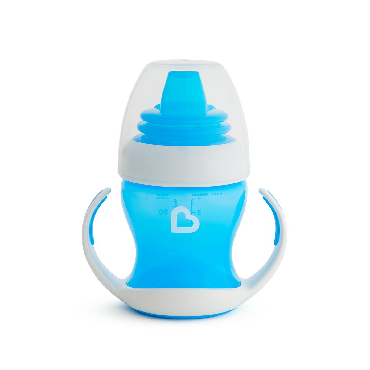 Εκπαιδευτικό μπλε ποτήρι Gentle first cup Munchkin